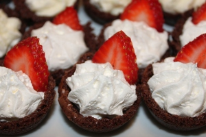 Tuxedo Brownie Cups Penny S Food Blog