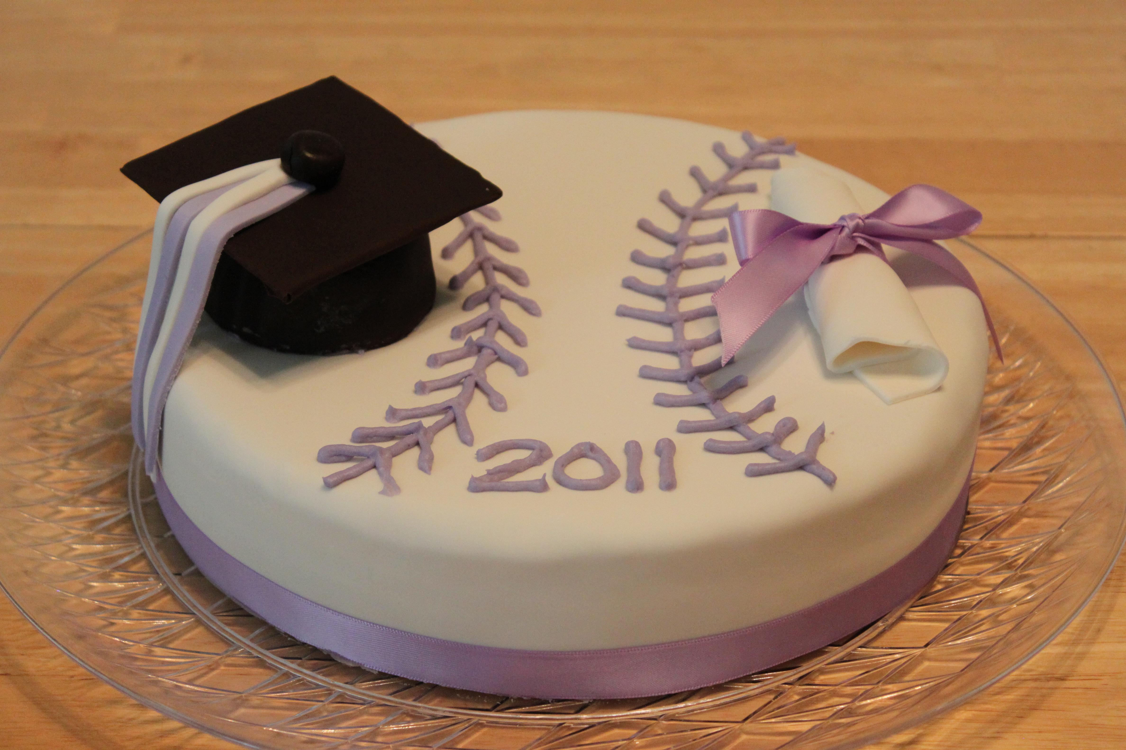 Softball Graduation Fondant Cake Pennys Food Blog