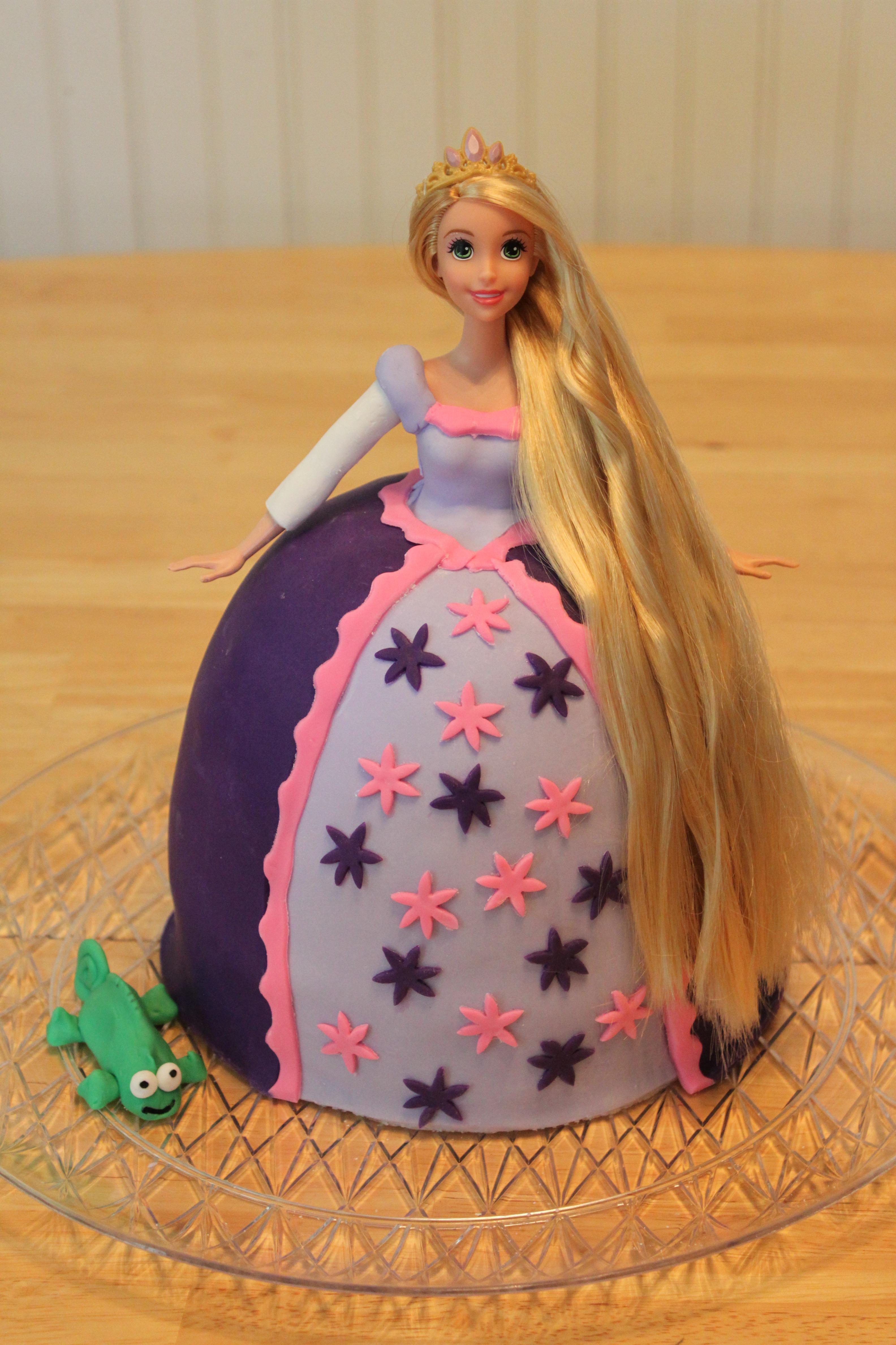 Lavender Tangled Doll Fondant Birthday Cake Penny S Food Blog