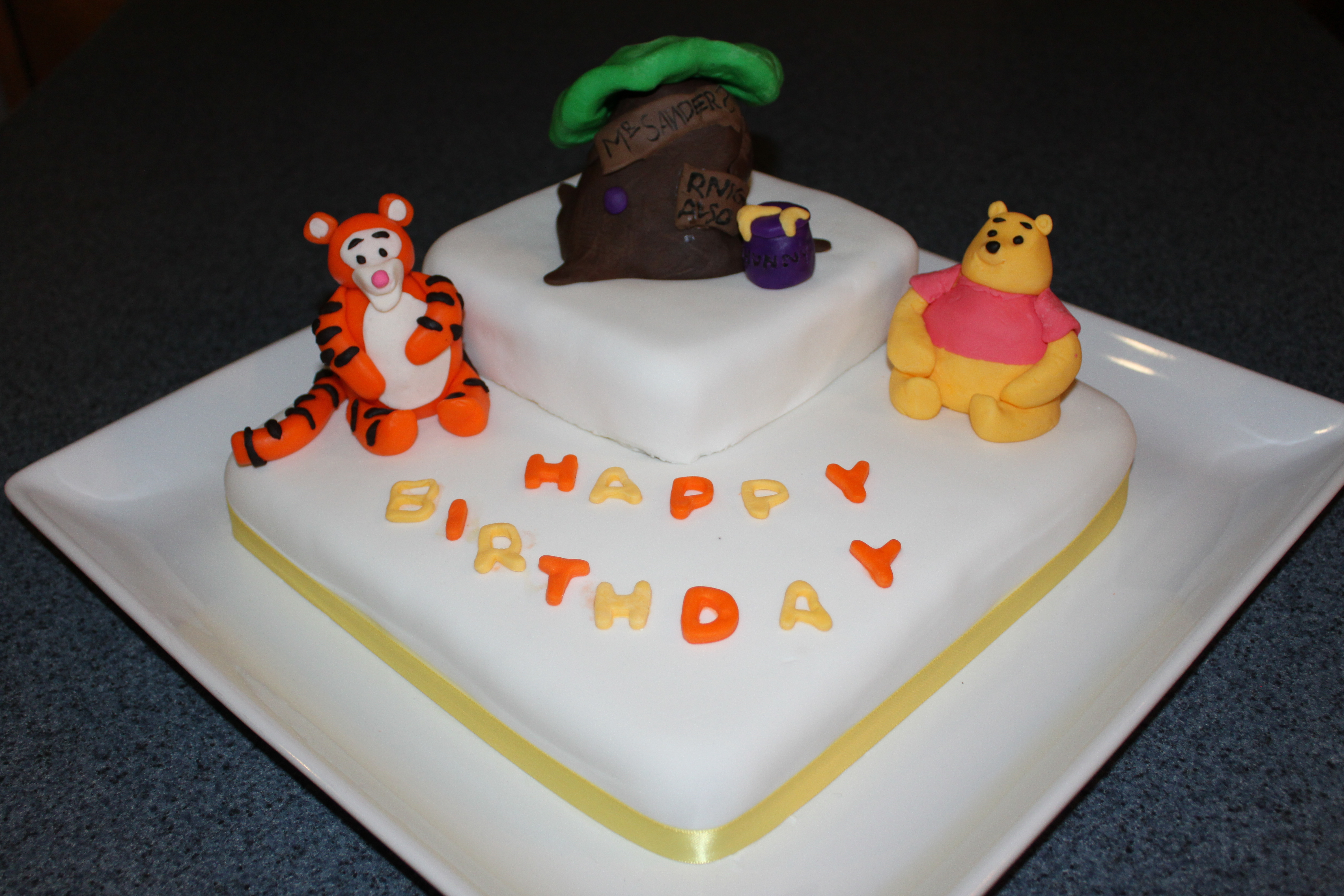 Superb Winnie The Pooh Fondant Birthday Cake Pennys Food Blog Funny Birthday Cards Online Aeocydamsfinfo