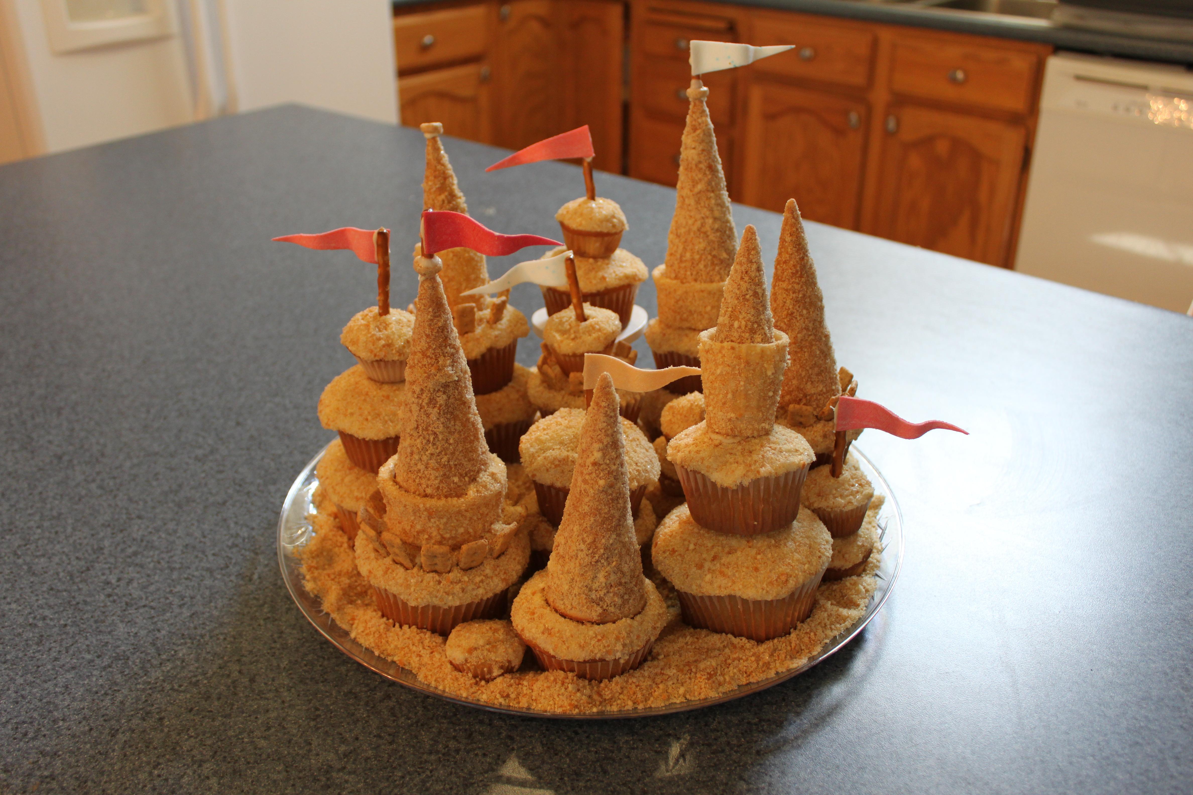 Cupcake Sandcastle Pennys Food Blog