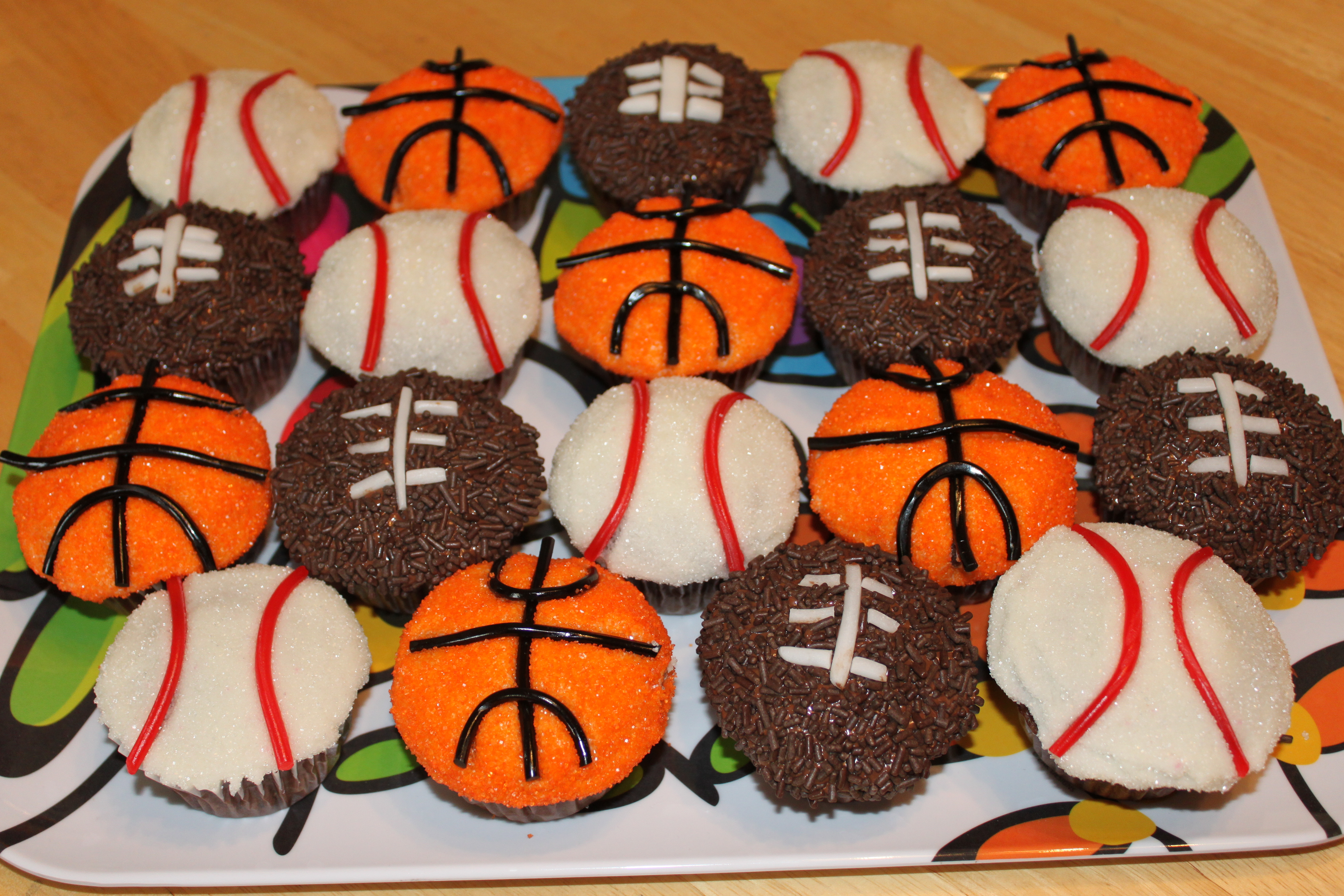 Football Cake Made With Cupcakes