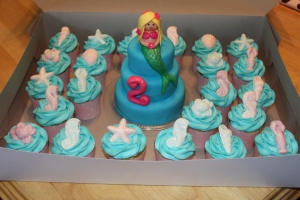 mermaid cake/cupcakes
