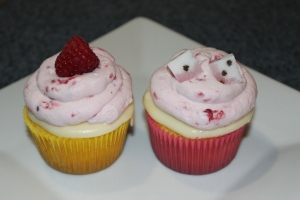 raspberry lemon truffle cupcakes