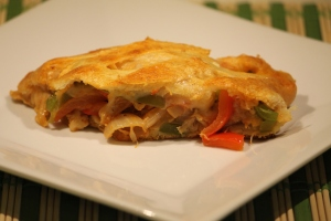 Chicken Fajita Crescent Braid