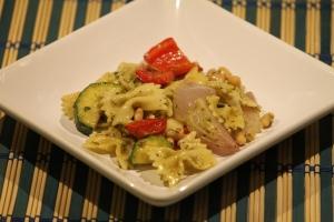 Grilled Vegetable Pesto Pasta Salad