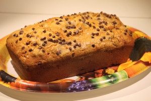 Chocolate Chip Pumpkin Bread 011
