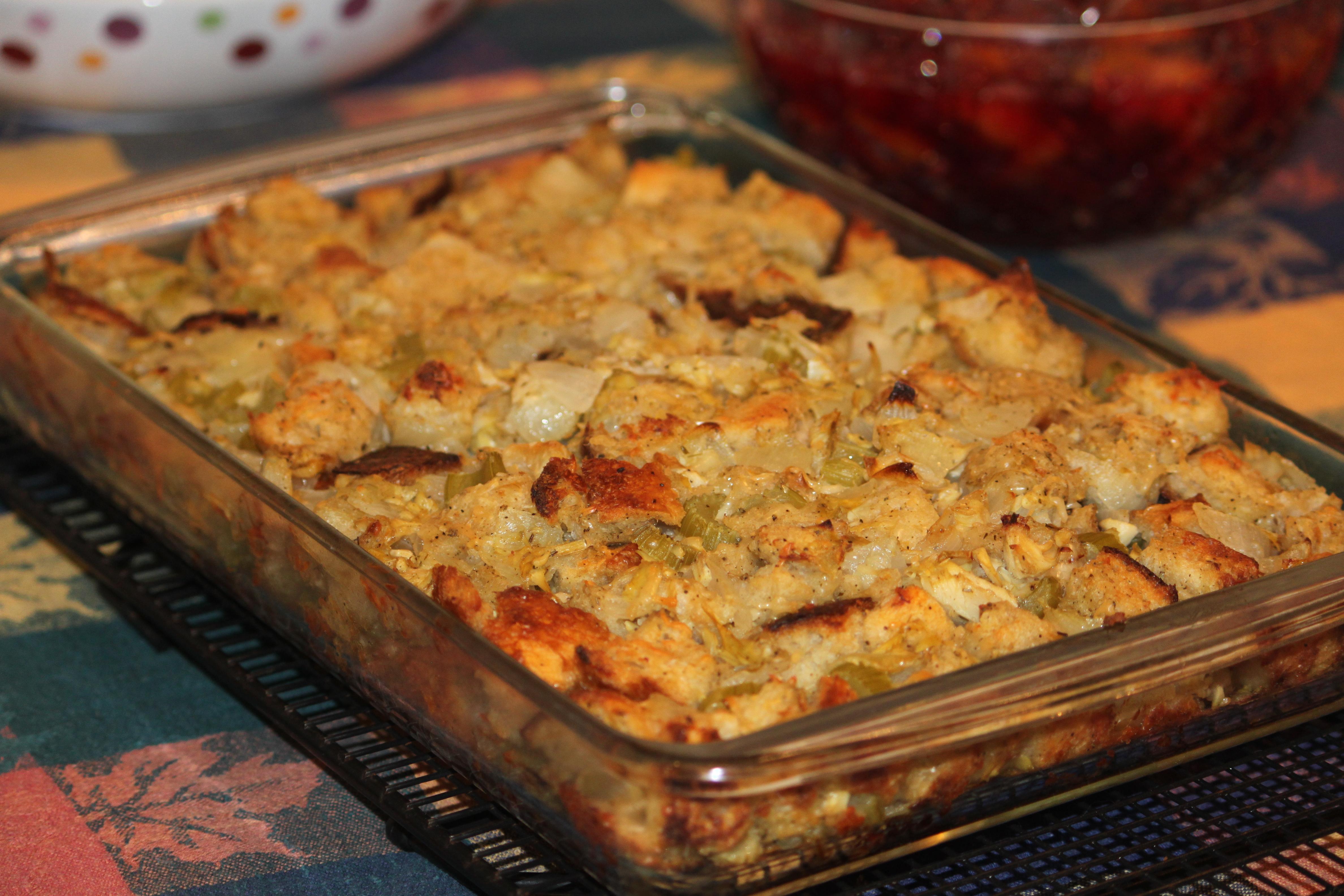 Parmesan And Leek Sourdough Stuffing Recipe — Dishmaps