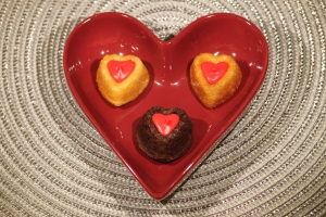 Valentine Candy Heart Mini Cakes