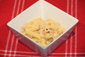 Penne with Tuna, Capers and Beans
