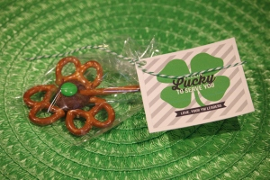 Twisted Shamrocks with Young Women tags