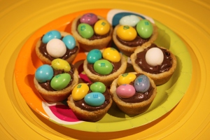 Easter Chocolate Filled Sugar Cookie Cups