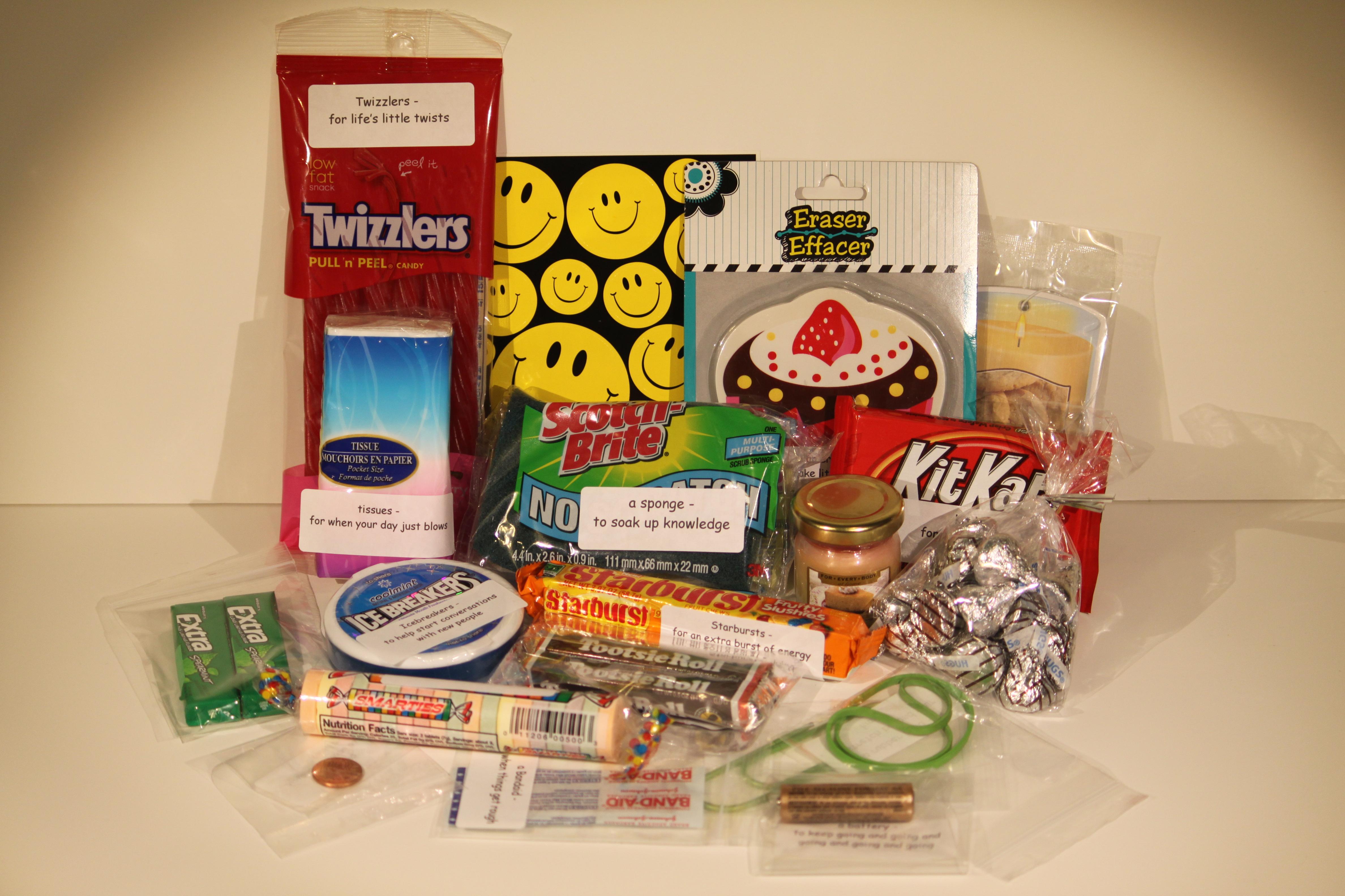 College Survival Kit Graduation Gift | Penny's Food Blog Smarties Graduation
