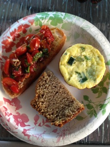 Bruschetta, Zucchini and Ricotta Mini Frittatas and Blue Ribbon Zucchini Bread
