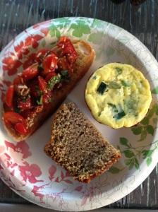 Bruschetta, Zucchini and Ricotta Mini Frittatas and Blue Ribbon Zucchini Bread