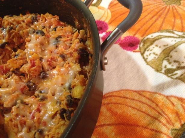Chicken and Black Bean Enchilada Skillet