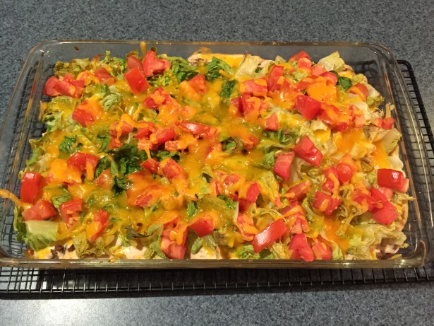 Taco Casserole with a Surprise Crust