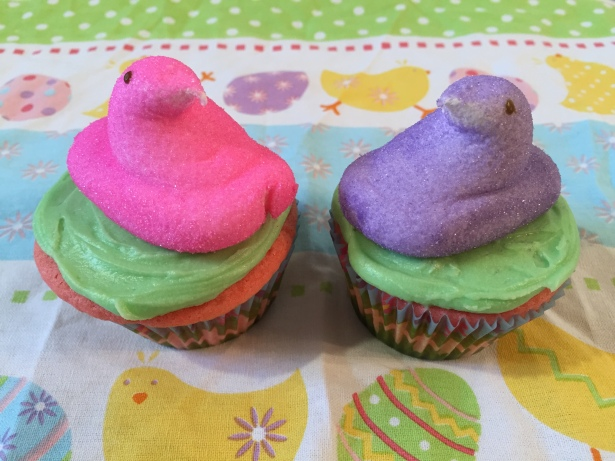 Peeps Chicks Surprise-Inside Easter Cupcakes