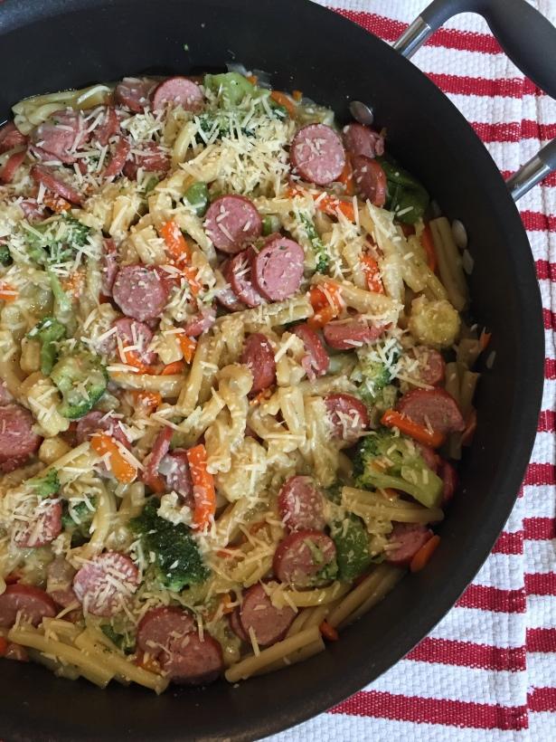 Skillet Pasta and Sausage