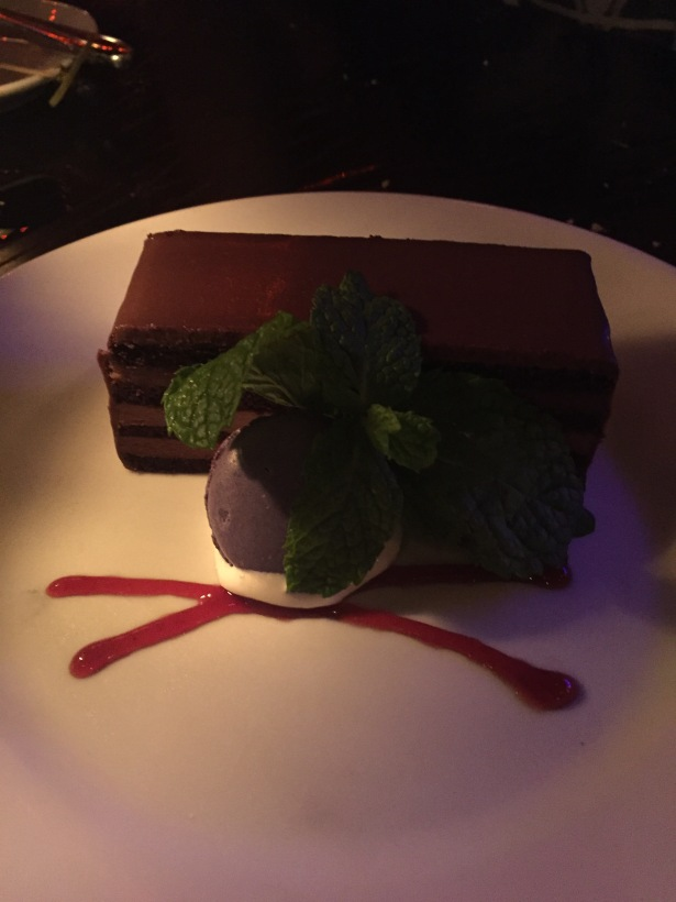 Blue Bayou 8 Layer Chocolate Mousse Cake