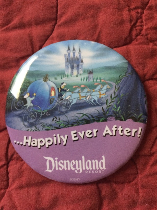 Disneyland Happily Ever After Button