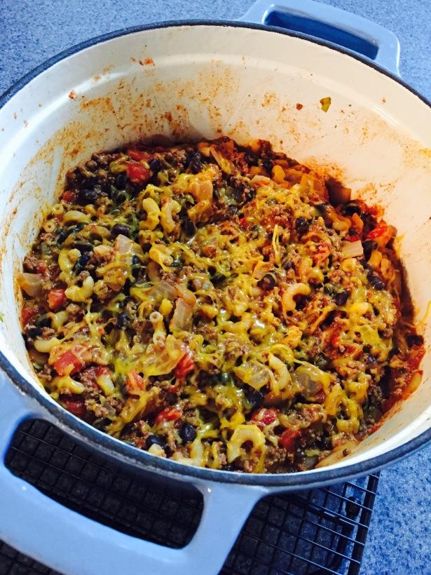 chili-pasta-skillet