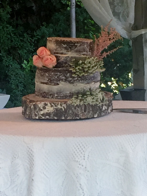 "Rustic Chocolate ""Naked"" Wedding Cake"