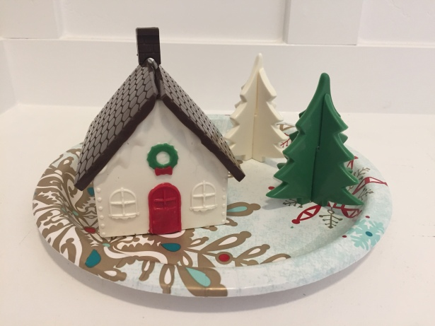 Holiday Chocolate House with 3D Chocolate Christmas Trees
