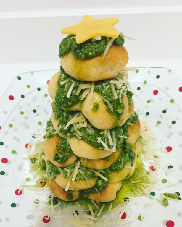 Pesto Parmesan Christmas Tree