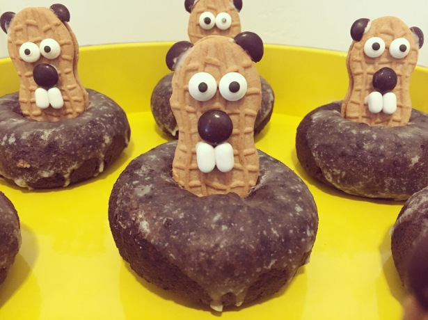 Nutter Butter Groundhog in Chocolate Doughnut Hole