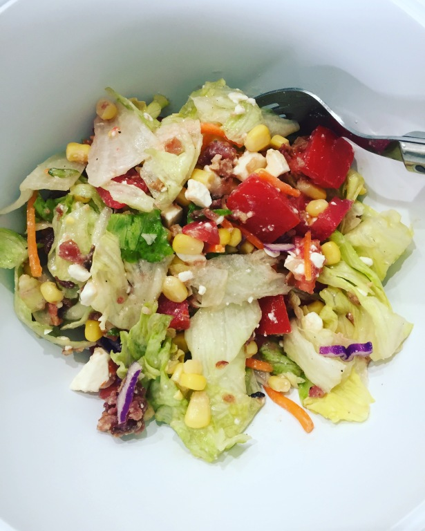 BLT Chopped Salad with Corn and Feta