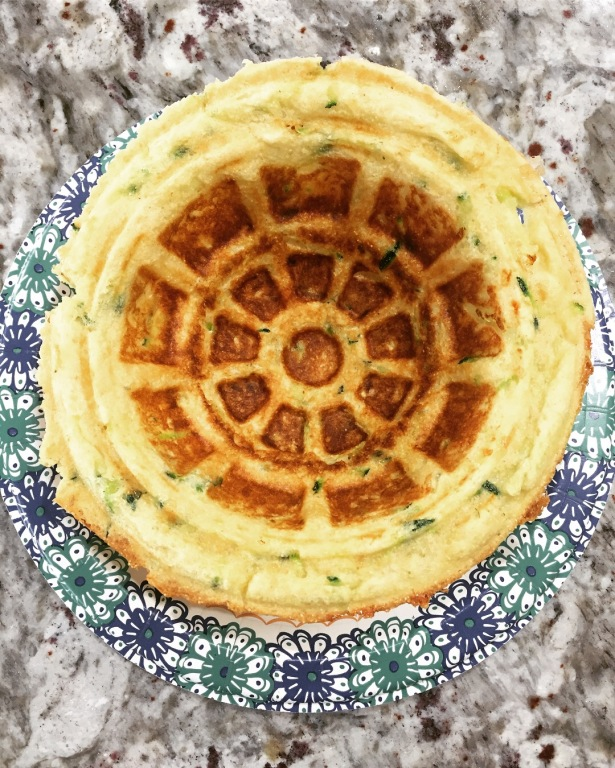 Zucchini Parmesan Waffle Bowl