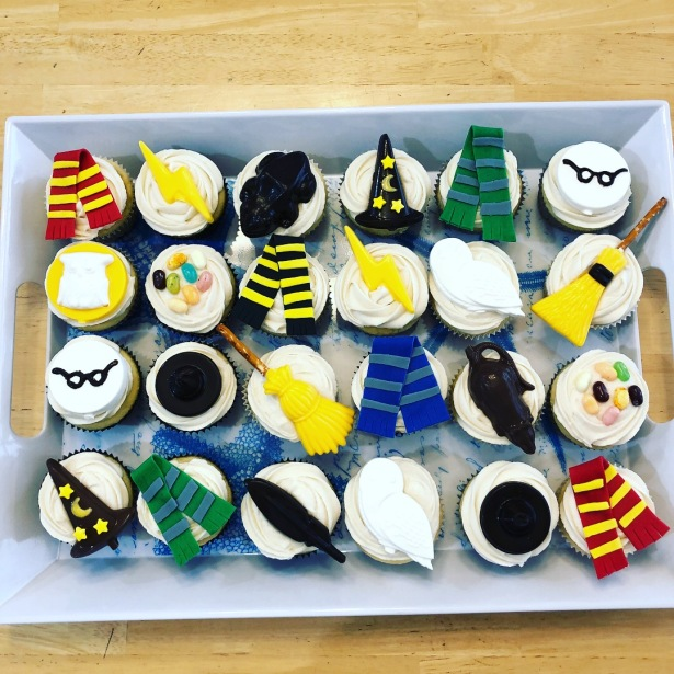 Chocolate Topped Harry Potter Cupcakes