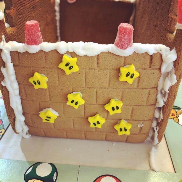 Super Mario Gingerbread Castle