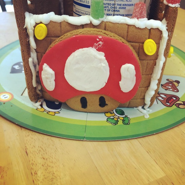 Super Mario Gingerbread Castle