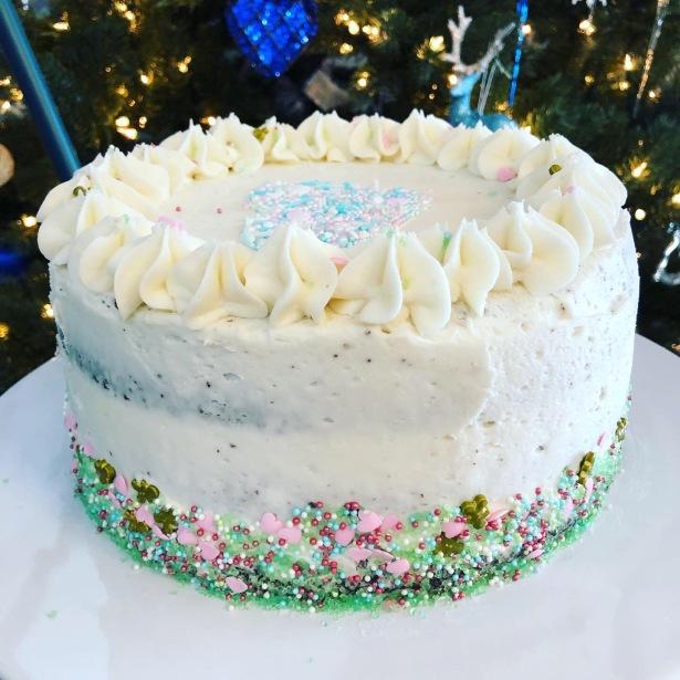Naked Sprinkle Birthday Cake
