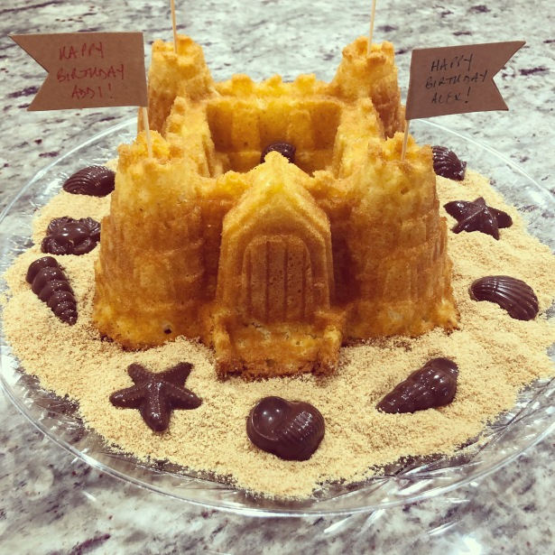 Sandcastle Birthday Cake