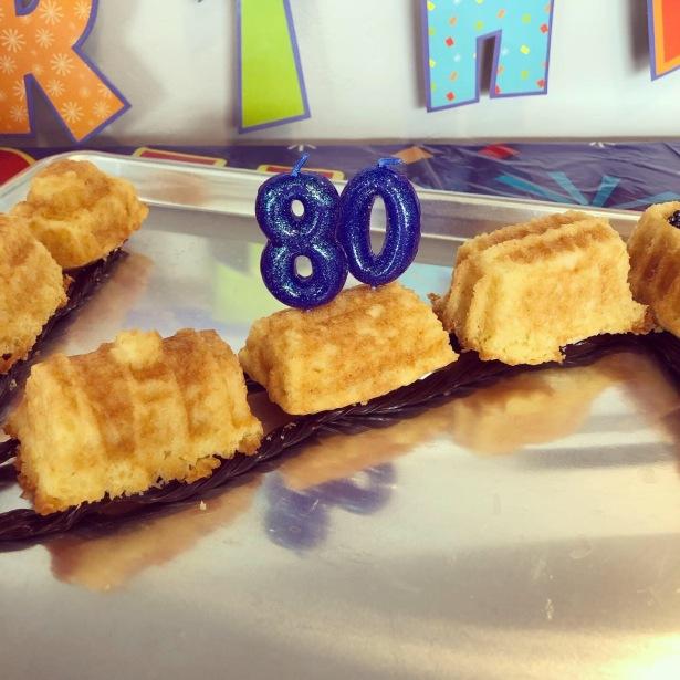 Train Birthday Cake - Licorice Tracks
