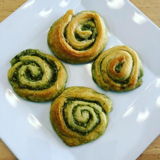 Pesto Parmesan Pinwheels