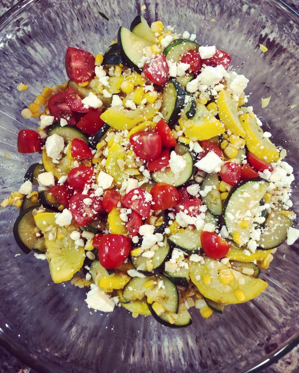 20 Minute Summer Squash and Corn Fiesta