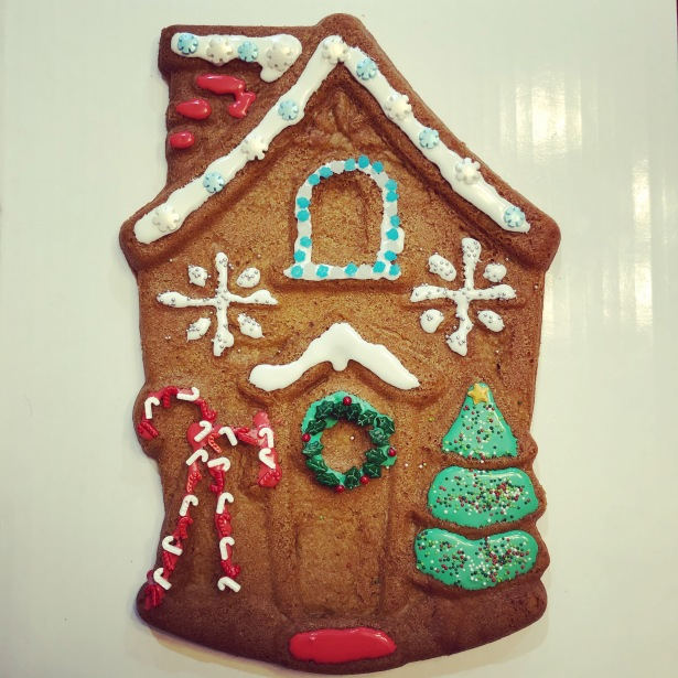 Giant Christmas House Gingerbread Cookie