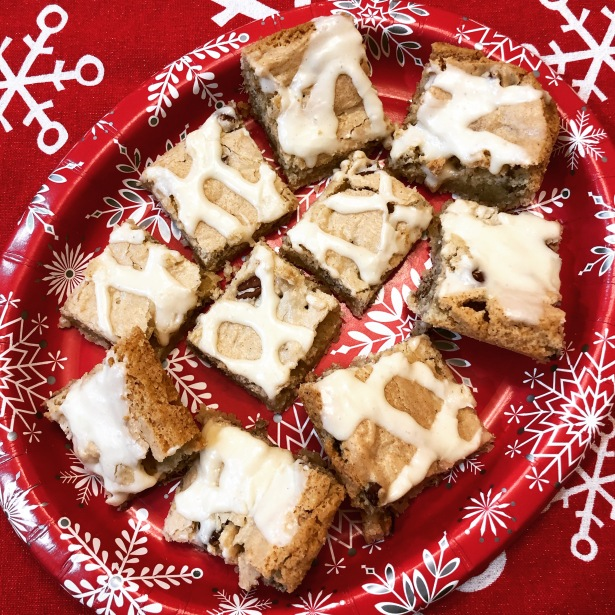 Nutty Eggnog Bars
