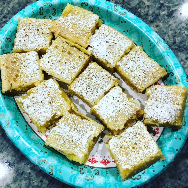 Lemon White Chocolate Brownies