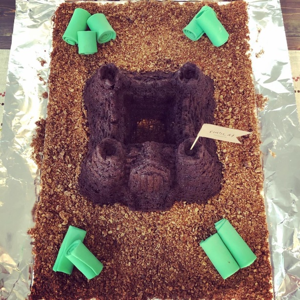 Our Home is still a Castle even though we don't have any Grass Birthday Cake