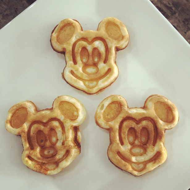 Mickey Mouse Shaped Classic Sourdough Waffles (or Pancakes)